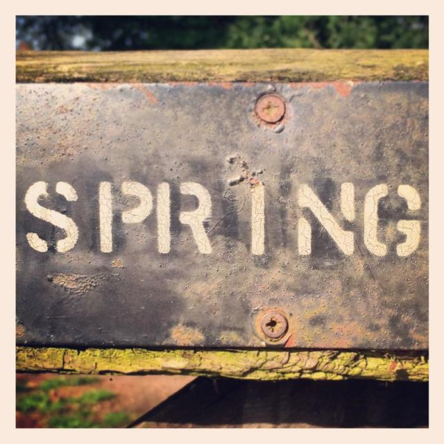 """Spring sign"" stock image"