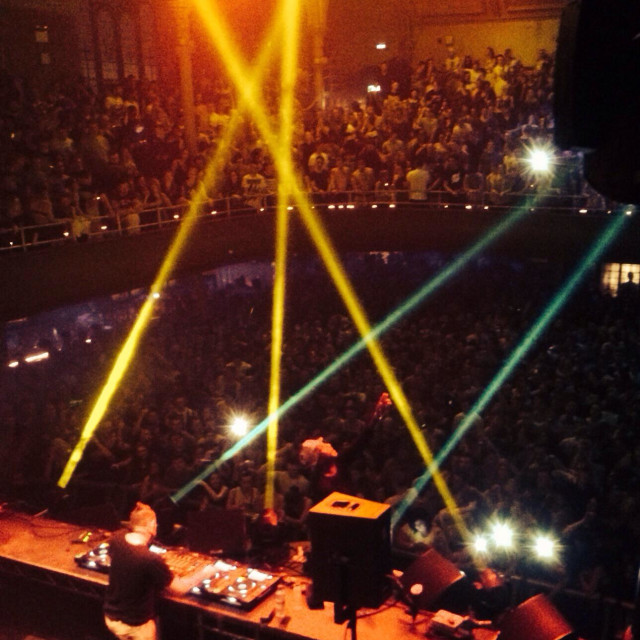 """chase and Status Dj set Manchester Albert hall 5th April 2014"" stock image"