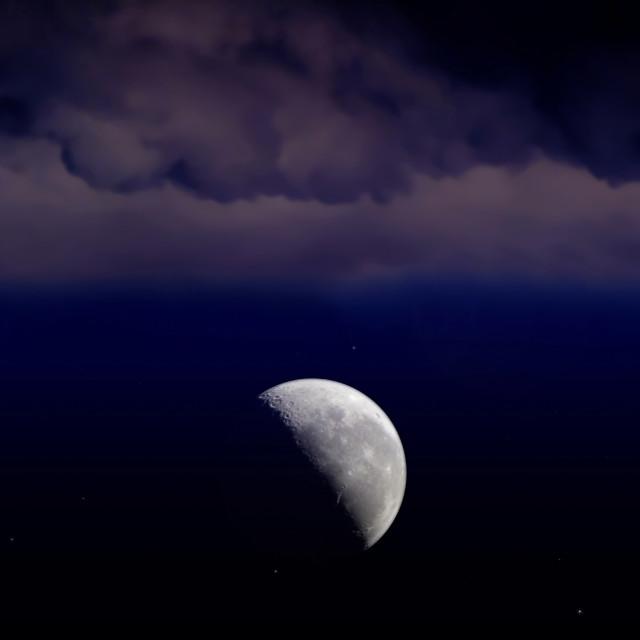 """Nubes con luna"" stock image"