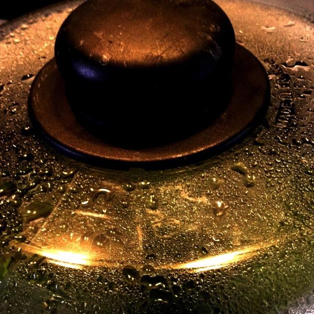 """""""Glass Saucepan Lid"""" stock image"""