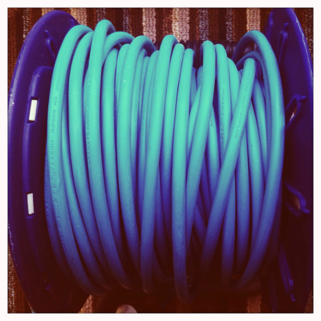 """""""Extension cable close up"""" stock image"""