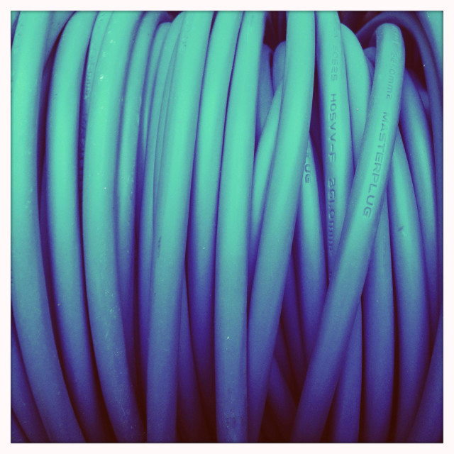 """""""Extension lead close up"""" stock image"""