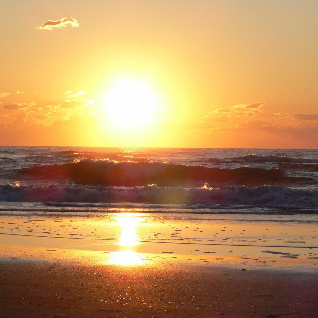 """""""Outer Banks sunrise"""" stock image"""