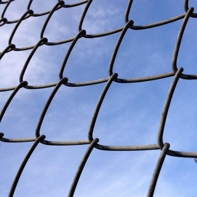 """Cyclone Fence"" stock image"
