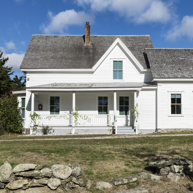 """Boyhood home of poet Robert Frost, Derry, New Hampshire, USA"" stock image"