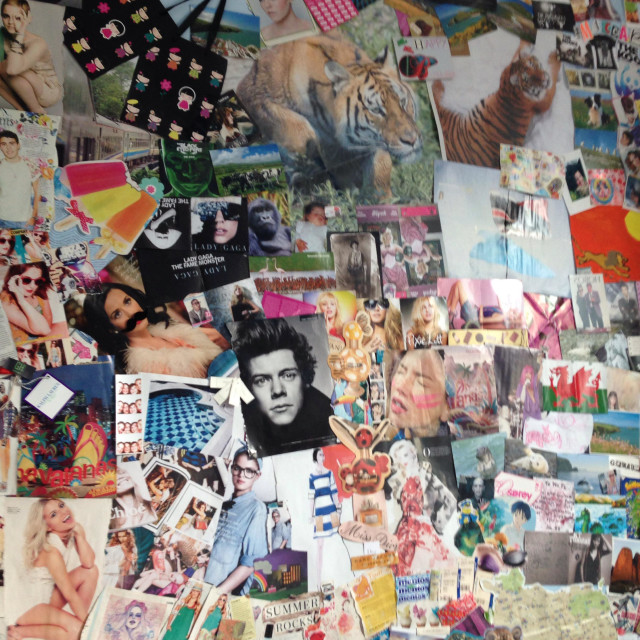 """""""Collage on wall"""" stock image"""