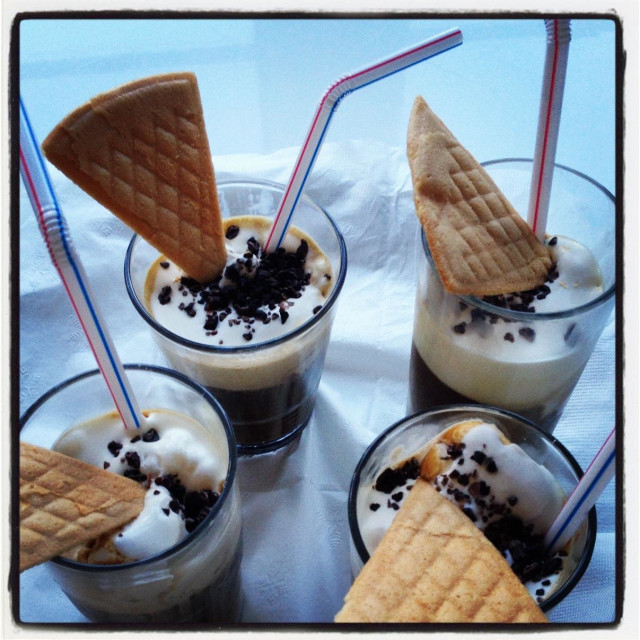 """Viennese ice coffee"" stock image"