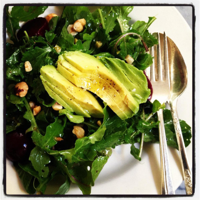 """Arugula avocado salad"" stock image"