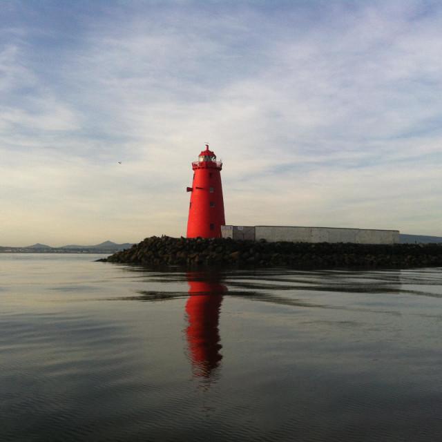 """Dublin Bay Lighthouse"" stock image"