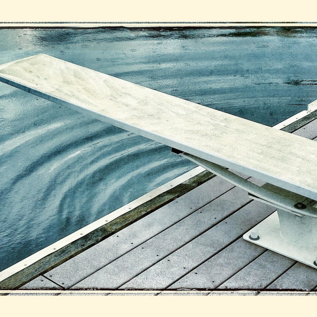 """""""Diving board on dock"""" stock image"""