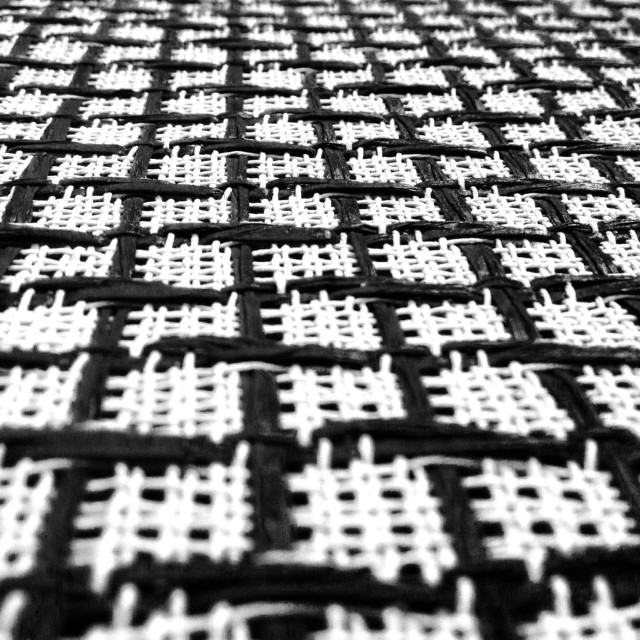 """Black and white salt and pepper checked speaker grill cloth"" stock image"