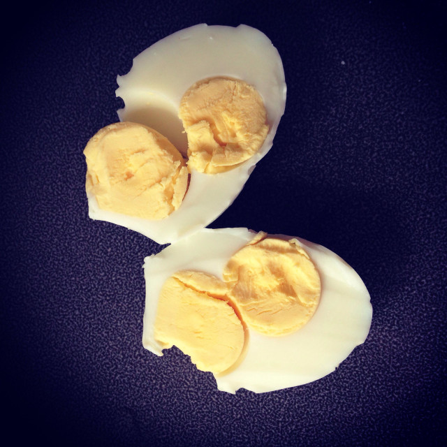 """""""Double yolk egg"""" stock image"""