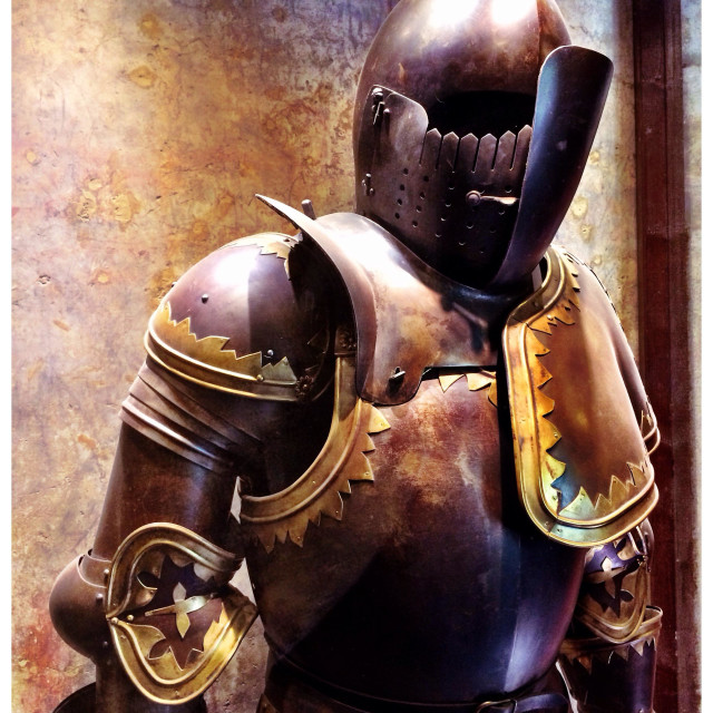 """Knight in shining armour"" stock image"