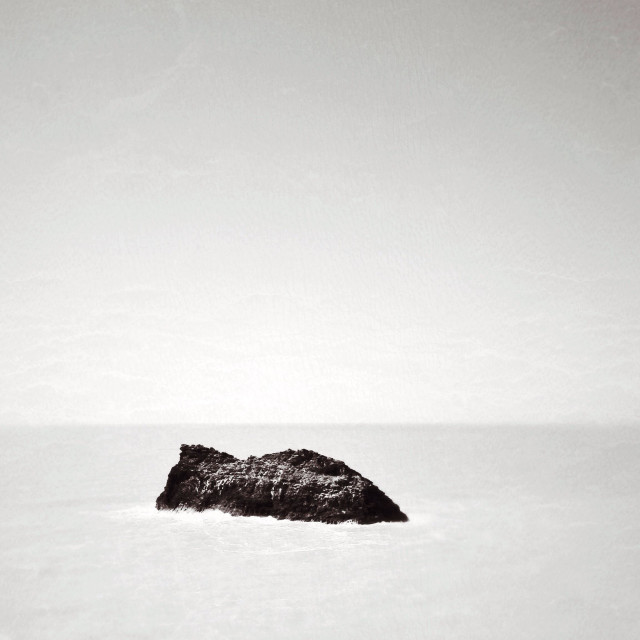"""Meachard isle off North Cornish coast near Boscastle"" stock image"