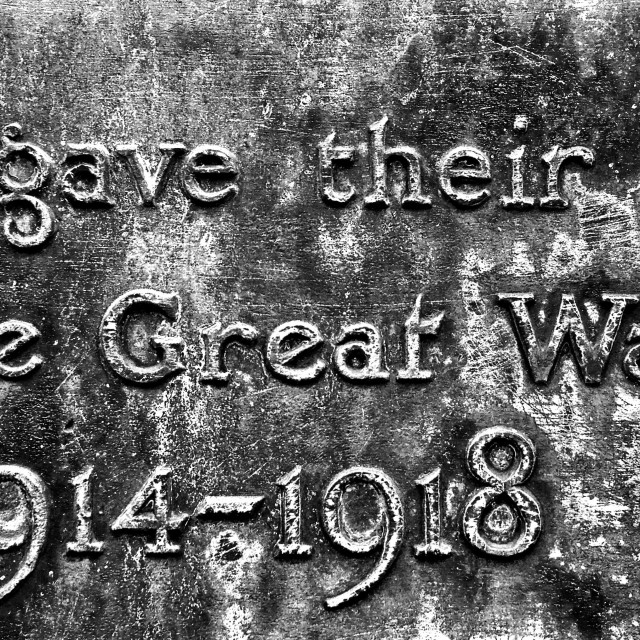 """""""Memorial to those killed in World War One"""" stock image"""
