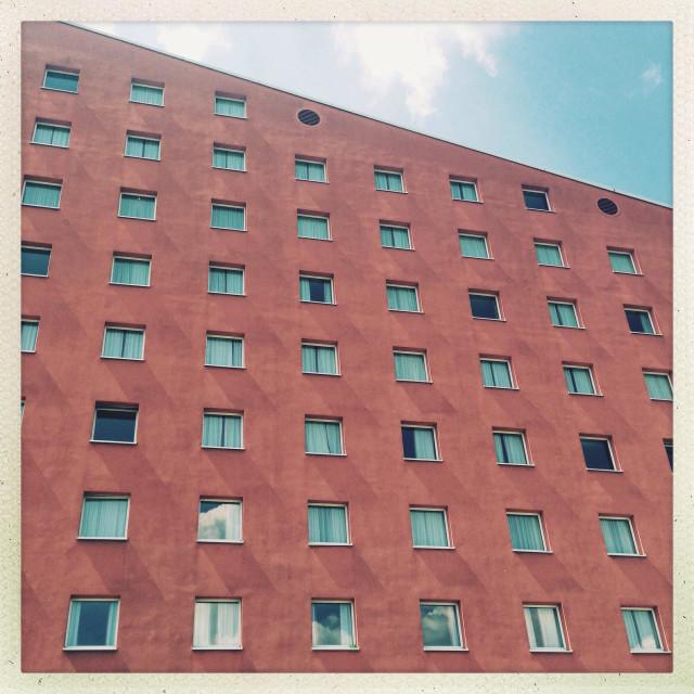 """A modern building is seen in Kreuzberg, Berlin."" stock image"