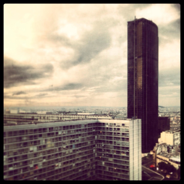 """Montparnasse tower, Paris"" stock image"
