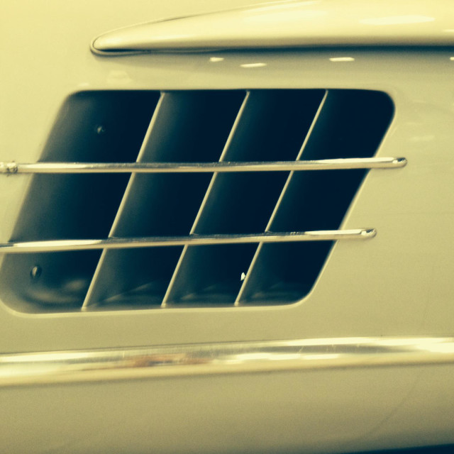 """""""Mercedes Gull Wing side vent"""" stock image"""
