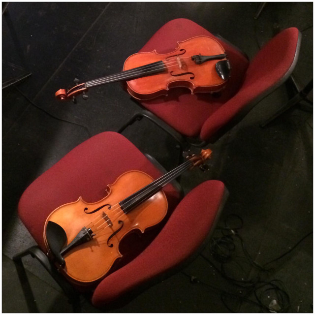 """Two Violín after the concert"" stock image"
