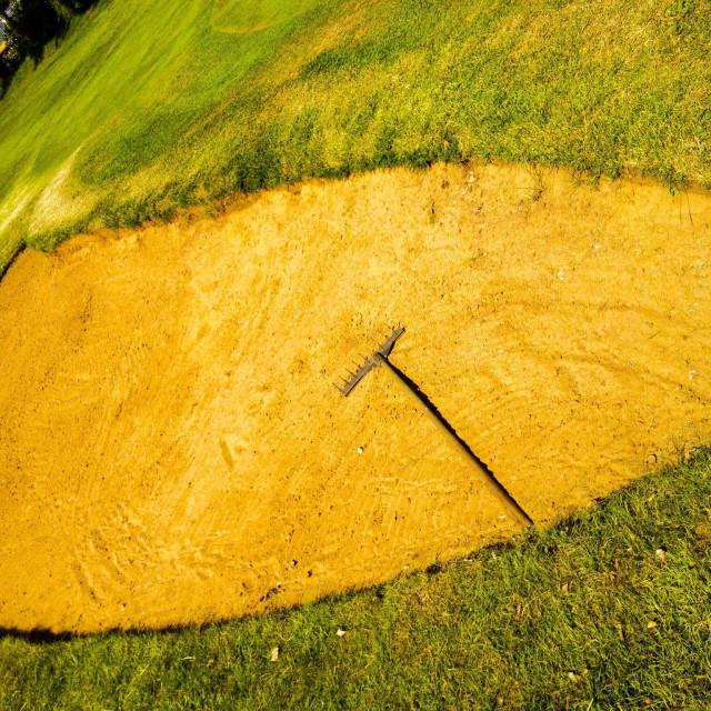 """""""Golf bunker"""" stock image"""