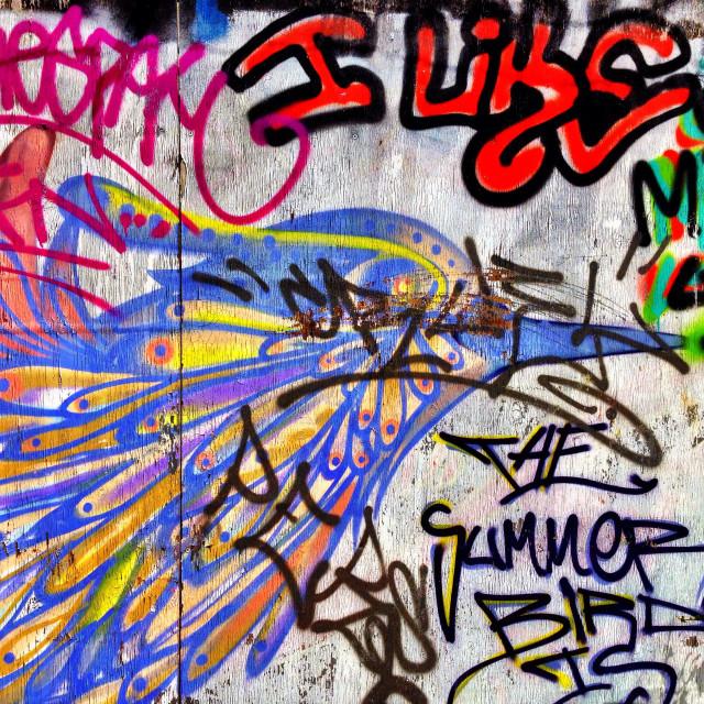 """""""Graffiti wall"""" stock image"""