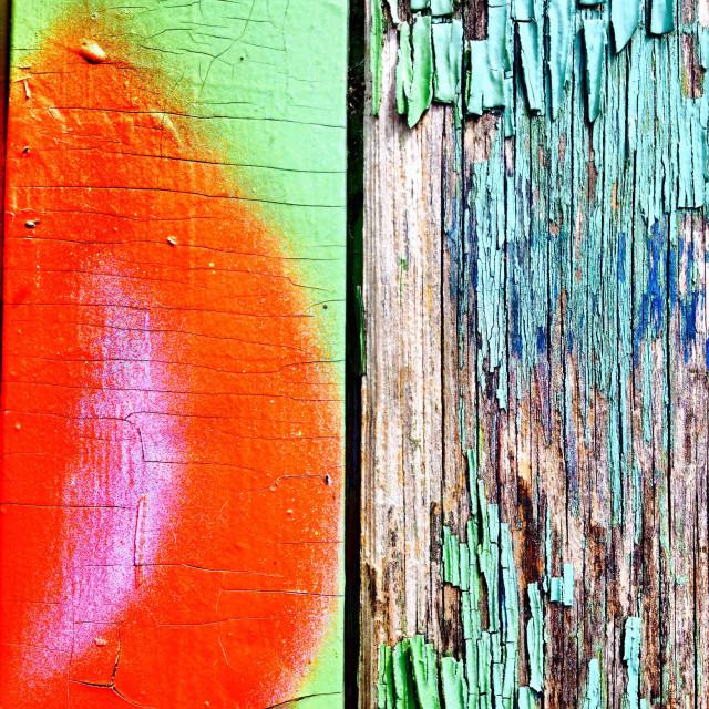 """""""Graffiti on wood"""" stock image"""