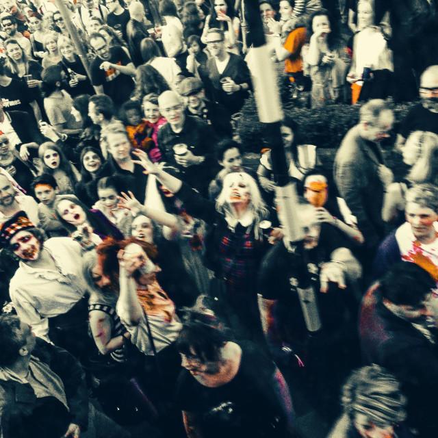 """""""Zombie Gathering"""" stock image"""