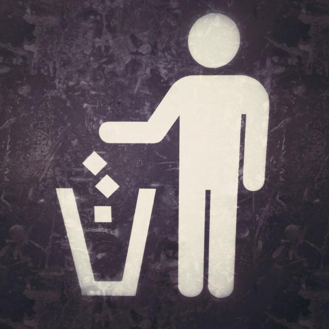 """""""Garbage sign"""" stock image"""