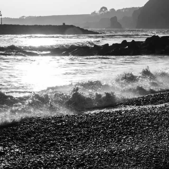 """""""Sidmouth Beach"""" stock image"""