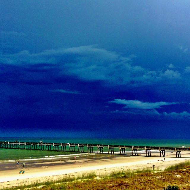 """Jacksonville Beach Pier"" stock image"
