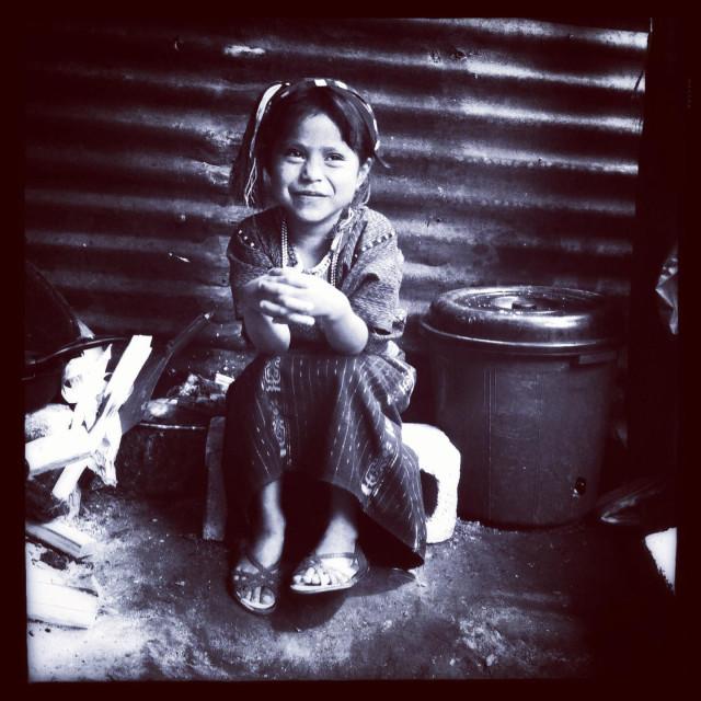 """Maya indigenous girl in San Antonio Palopo, Solola,Guatemala."" stock image"