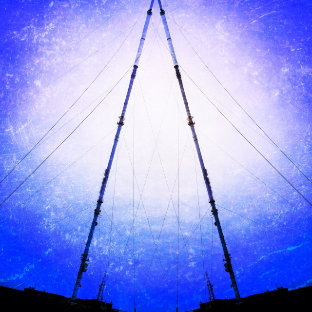 """""""Winter Hill TV mast abstract"""" stock image"""
