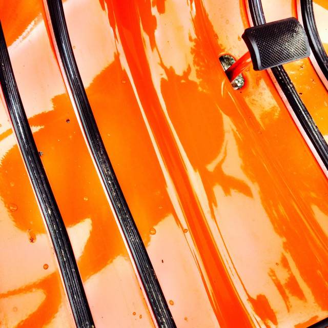 """""""Orange moped scooter detail"""" stock image"""