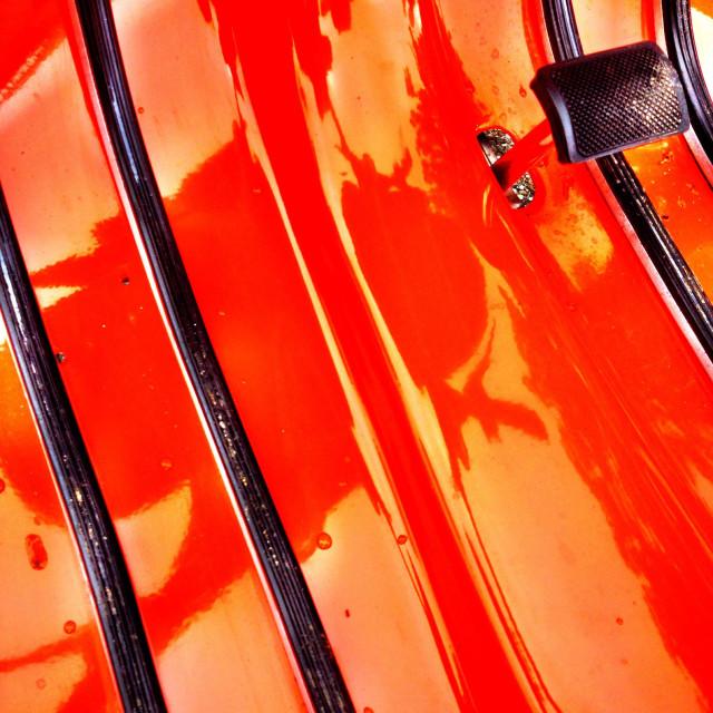 """Orange scooter moped"" stock image"