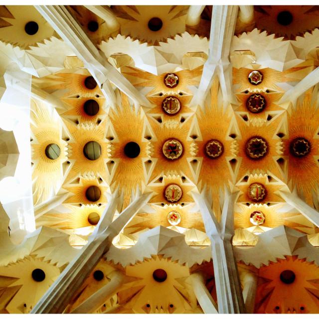 """Roof detail at La Sagrada Familia, Barcelona"" stock image"
