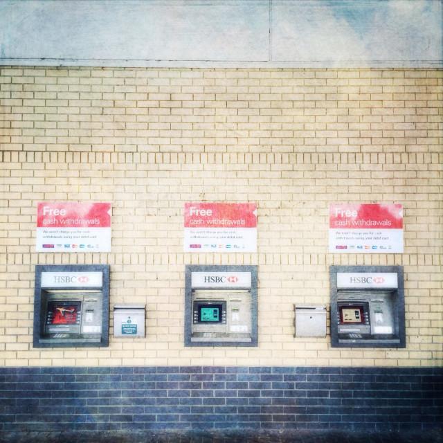 """""""ATM cash dispensing machines"""" stock image"""