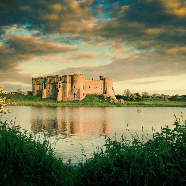 """Carew Castle Pembrokeshire"" stock image"