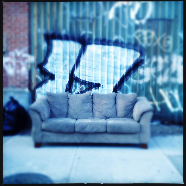 """""""Couch out"""" stock image"""