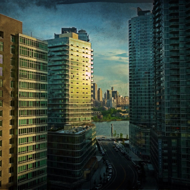 """""""New development buildings in Long Island City in the early morning"""" stock image"""
