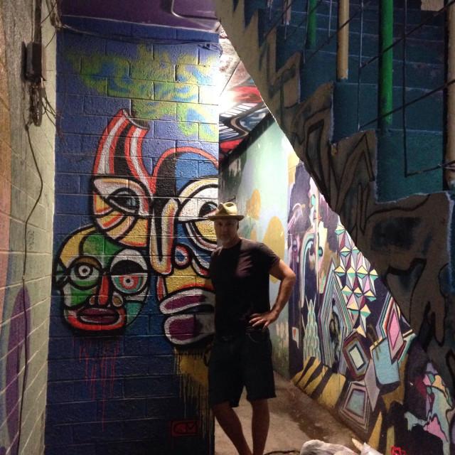 """Graffiti Alley"" stock image"