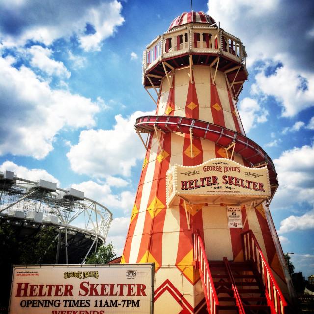 """""""George Irvin's Helter Skelter"""" stock image"""