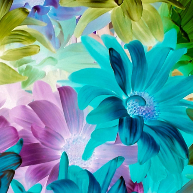 """""""Floral Tapestry in Jewel Tones"""" stock image"""