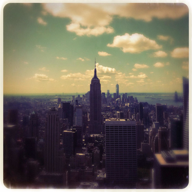 """New York City summer view."" stock image"
