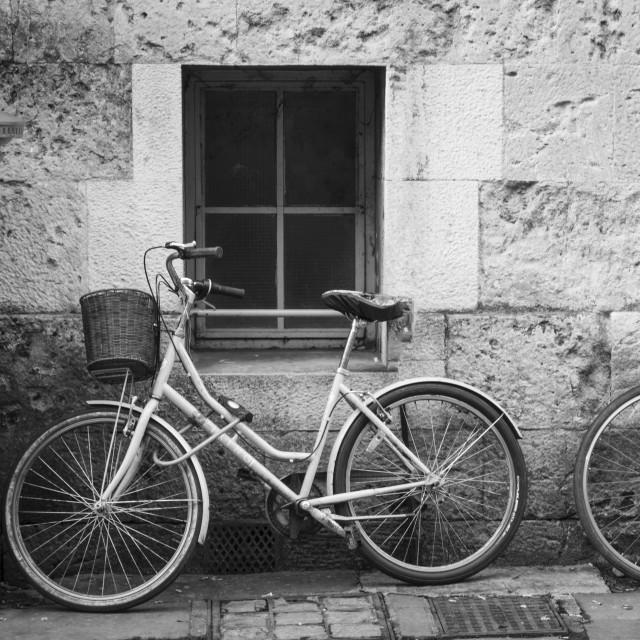 """Bikes of Oxford"" stock image"