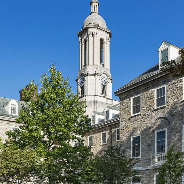 """""""Old Main building on the campus of Penn State University, State College, Pennsylvania, USA"""" stock image"""