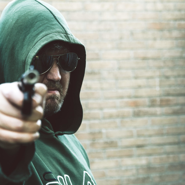 """""""Gangster with gun"""" stock image"""