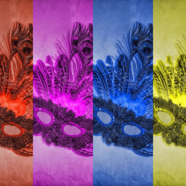 """Mardi Gras Pop Art"" stock image"