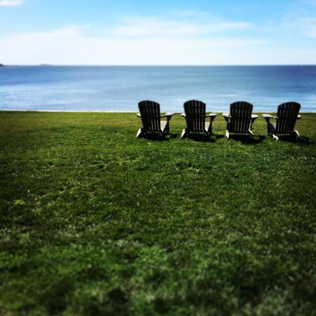 """""""Adirondack chairs"""" stock image"""