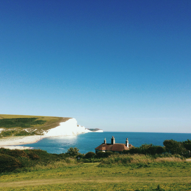 """Cuckmere Haven, Sussex, England"" stock image"