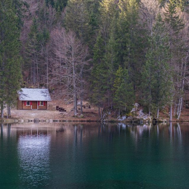 """Fusine Lake"" stock image"